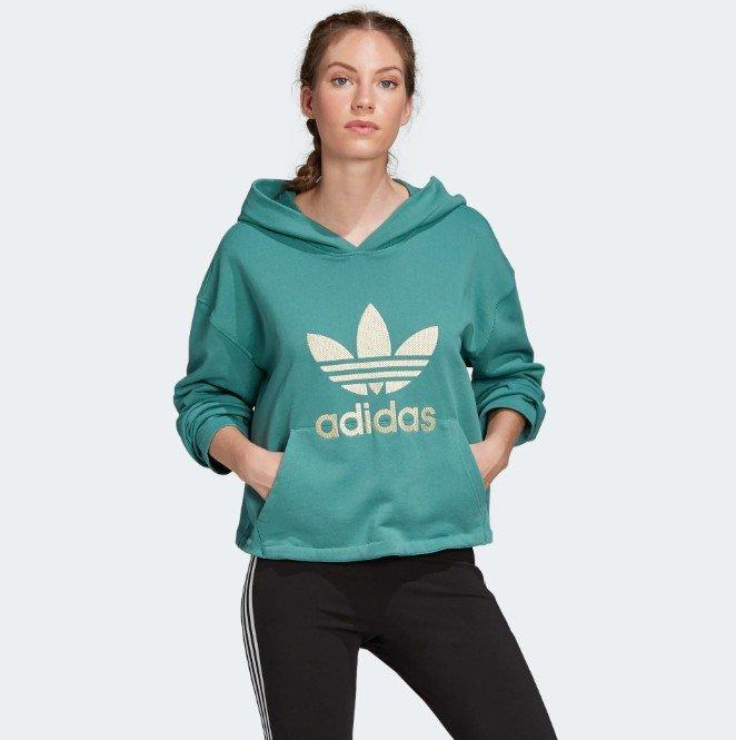 Adidas Originals Kapuzenpullover in türkis für 34,97€ inkl. Versand (statt 60€)