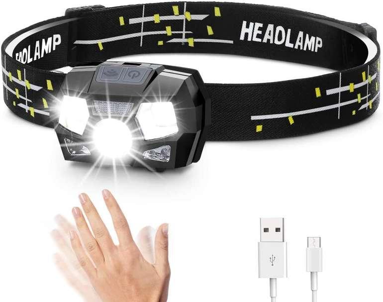 Sgodde wiederaufladbare LED Stirnlampe (300 Lumen, IPX6, 5 Modi) für 7,79€ inkl. Prime Versand (statt 13€)