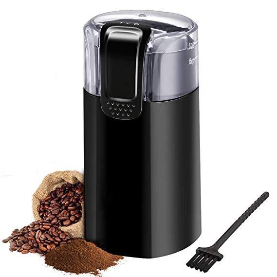 TopElek elektrische Kaffeemühle mit Bürstenreiniger für 12,95€ inkl. Versand