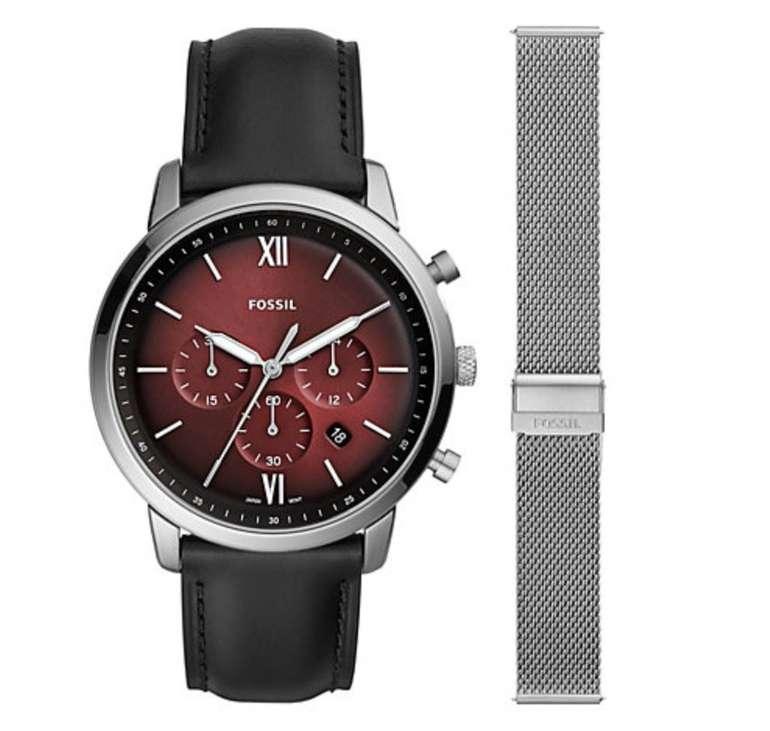 Fossil FS5600SET Herren Armbanduhr mit Milanaise-Wechselband für 79,50€ (statt 111€)