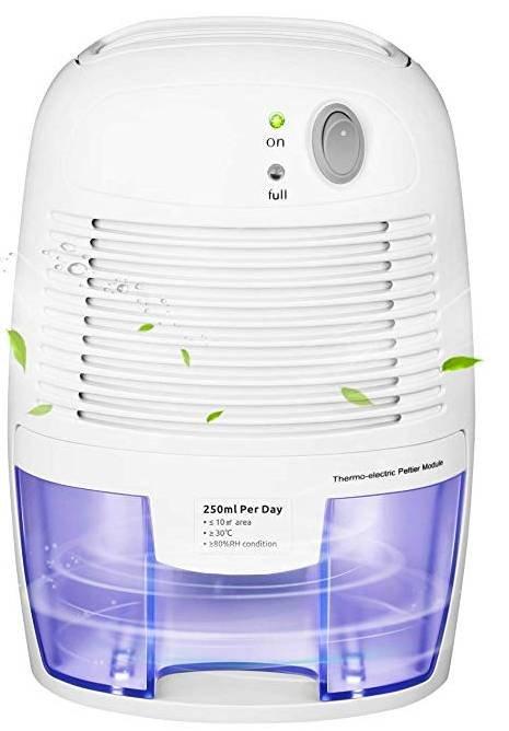 Mpow, elektrischer Luftentfeuchter mit 500ml Wassertank für 26,99€ (statt 36€)