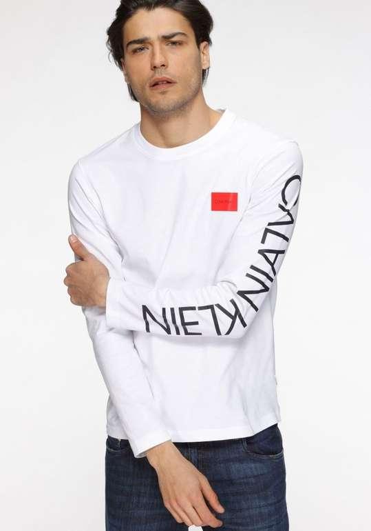 Calvin Klein Text Reversed Logo Herren Langarmshirt für 34,46€ (statt 50€)