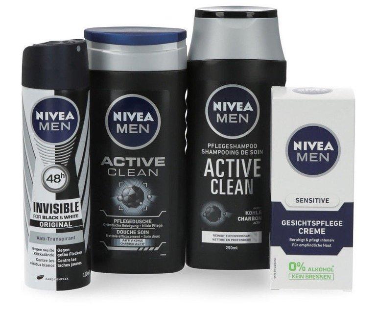 4-tlg. Nivea Active Clean Geschenkset mit Handtuch für 9,99€ inkl. Versand
