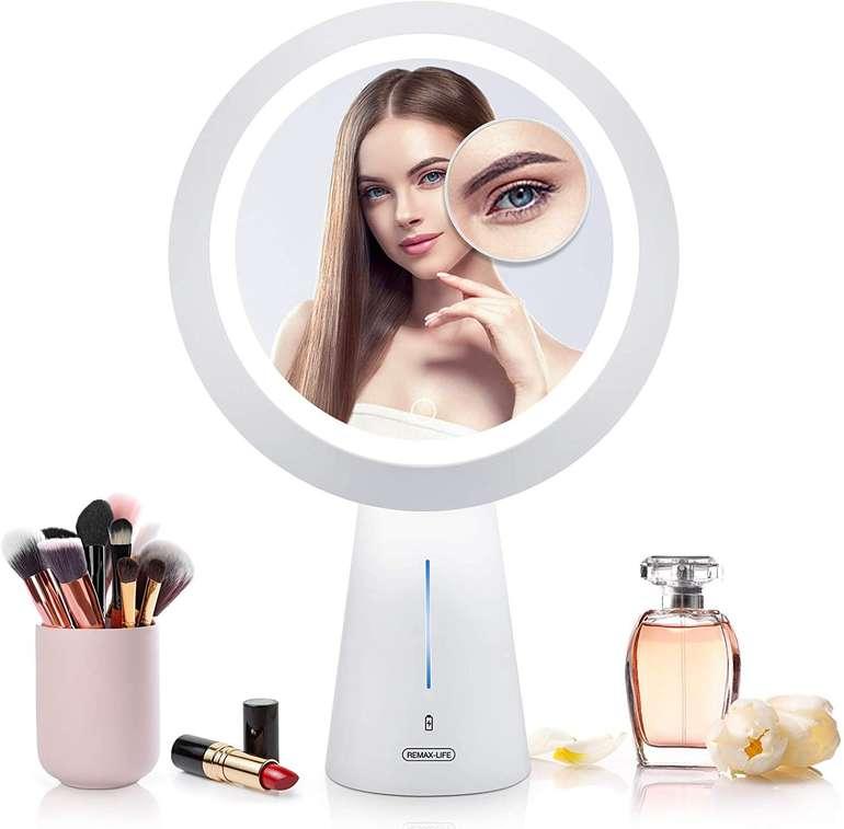 Mayepoo wiederaufladbarer Kosmetikspiegel mit Licht für 10,40€ inkl. Prime Versand (statt 26€)