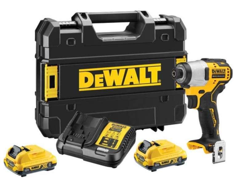 DeWalt DCF801D2 - 12V-Akku-Schlagschrauber (2x 2Ah-Akku, Ladegerät, TSTAK-Koffer) für 173,90€ (statt 201€)