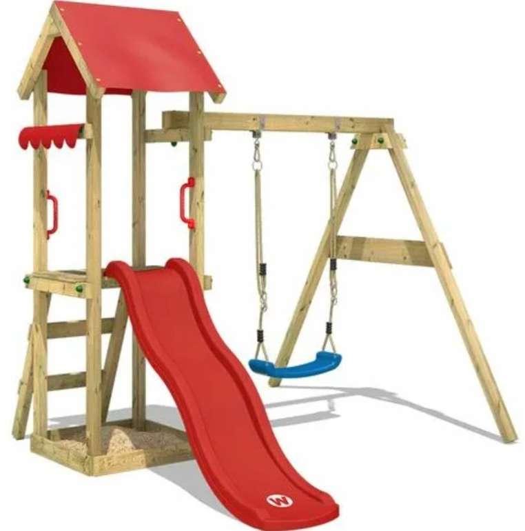 Wickey TinyWave Spielturm / Klettergerüst mit Schaukel, Rutsche und Sandkasten für 249,95€ (statt 300€)
