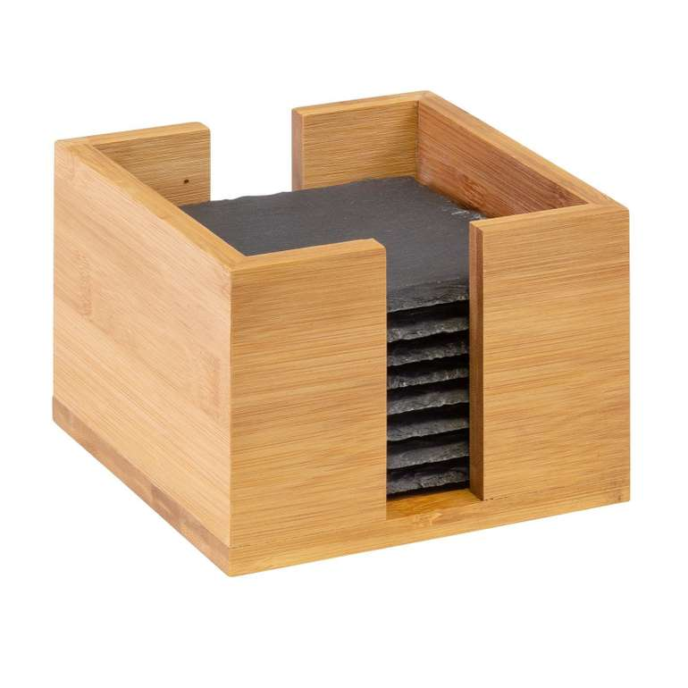 Westmark 8 Naturschiefer-Untersetzer (10x10cm, in Bambusbox) für 10,48€ inkl. Versand (statt 21€)