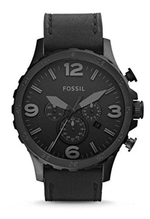 Fossil Nate (JR1354) Herren Uhr in schwarz für 67€ (statt 100€)