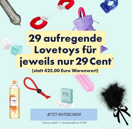 Eis.de: 29 Love Toys für je nur 0,29€ zzgl. Versand (Mindestbestellwert: 19,95€)