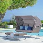 Gartensofa Curly mit Sonnendach und Fußteil für 259,35€ inkl. Versand