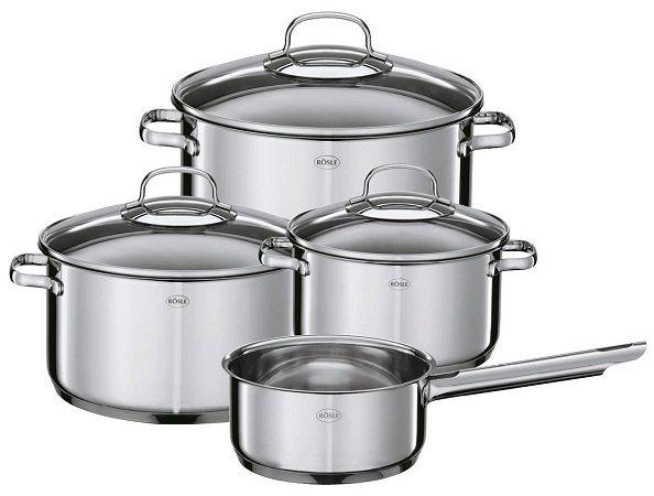 Rösle ELEGANCE 4-teilige Topfset mit Stielkasserolle für nur 49,99€ (statt 65€)
