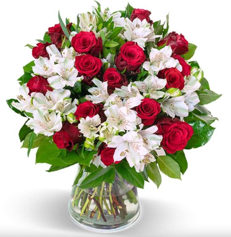 Blumenstrauß Liebesgruß mit bis zu 150 Blüten (Rosen + Inkalilien) für 25,98€ inkl. Versand (statt 40€)