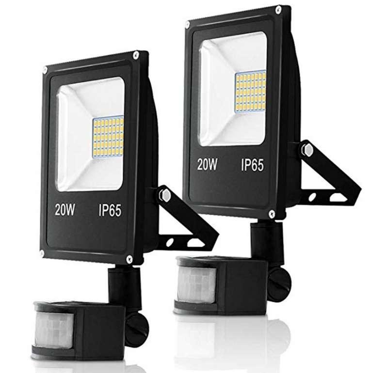 Hengda 2er mit 20 Watt mit Bewegungsmelder LED Fluter für 23,39€ inkl. Versand (statt 36€)