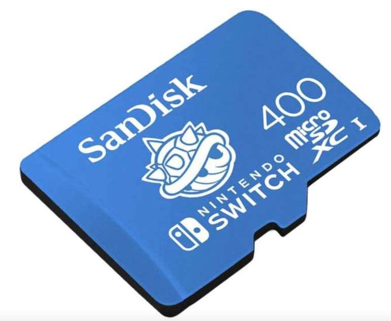 SanDisk microSDXC Speicherkarte für Nintendo Switch mit 400GB Speicher (bis zu 100 MB/s) für 55€ (statt 70€)