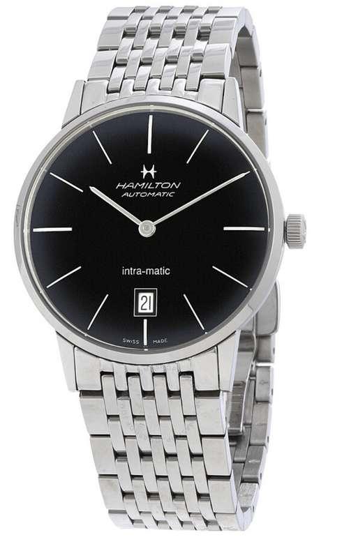 Hamilton Intra-Matic Automatic Black Dial Herren Armbanduhr H38455131 für 460,21€ inkl. Versand
