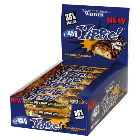 12er Pack Weider Yippie! Bar Erdnuss Karamell Riegel oder Chocolate für 11,99€ - MHD 30.09.2019