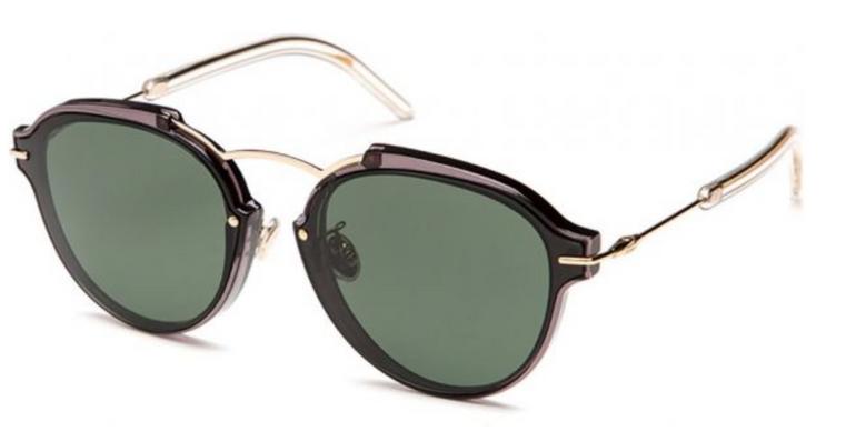"""Dior Sonnenbrille """"Dioreclat"""" (UV 400, schwarz, FT3) für 198€ (statt 366€)"""