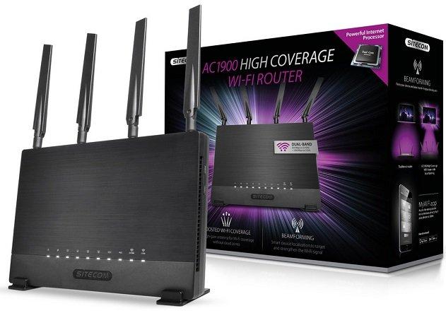 Sitecom WLR-9000 Hochleistungsrouter für 75,90€ (Statt 132€)