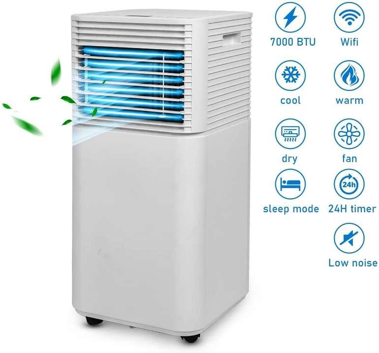 Hengda 3 in 1 Mobiles Klimagerät (780W Klimaanlage, Räume bis 15 m³, A) für 174,99€ inkl. Prime Versand