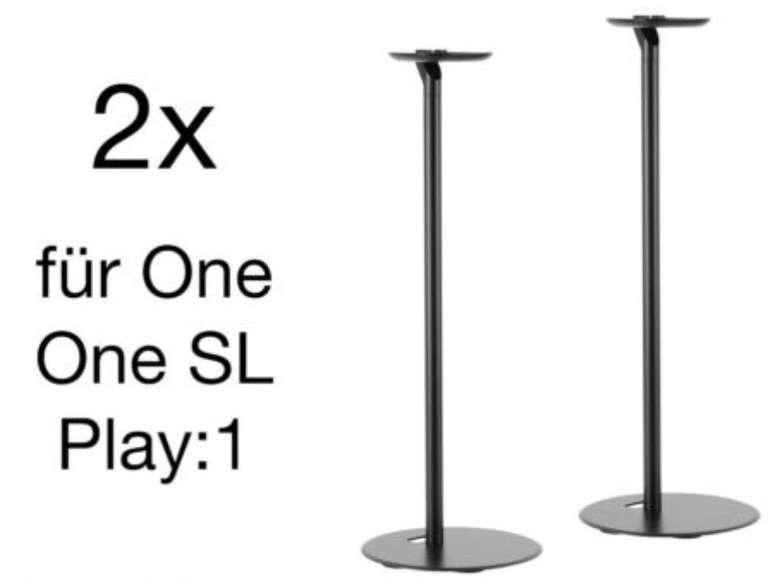 2er Pack Boxen Ständer bzw. Standfüsse für Sonos One / SL / Play 1 Lautsprecher nur 39,99€ (statt 46€)