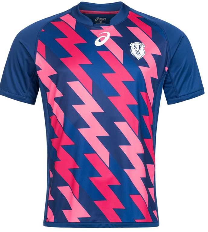 Asics Stade Francais Rugby Heim Trikot für 11,72€ inkl. Versand (statt 23€)