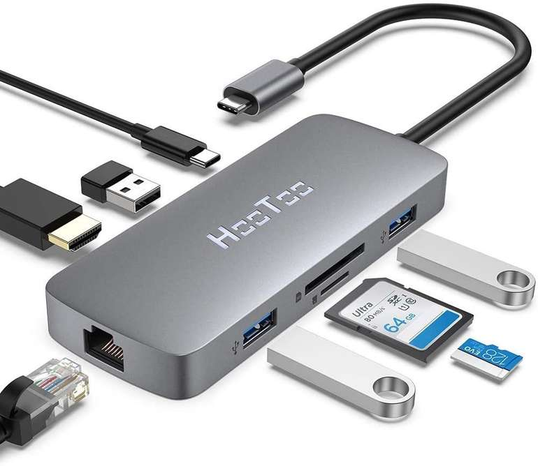 HooToo 8-in-1 USB C Hub für 28,89€ inkl. Versand (statt 40€)