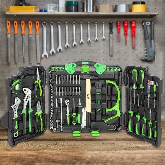 STARKMANN Blackline Premium-Werkzeugkoffer mit 110 Teilen