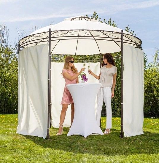 CHILLROI Gazeboca runder Pavillon (300cm) für 74,25€ (statt 140€)