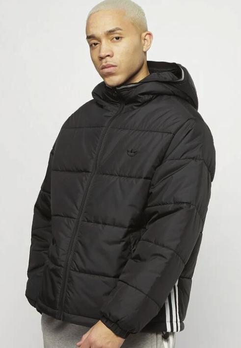 """adidas Originals """"Pad Hooded Puff"""" Winterjacke in schwarz für 53,99€inkl. Versand (statt 70€)"""
