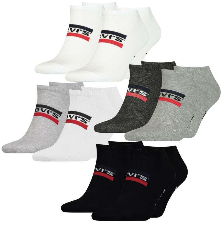 8x Levis Unisex Sneaker Sportsocken Low Cut für 27,99€inkl. Versand (statt 32€)