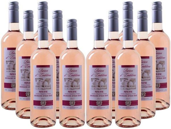 12 Flaschen Baron d'Emblème – Grenache-Syrah Rosé für 45€ inklusive Versand