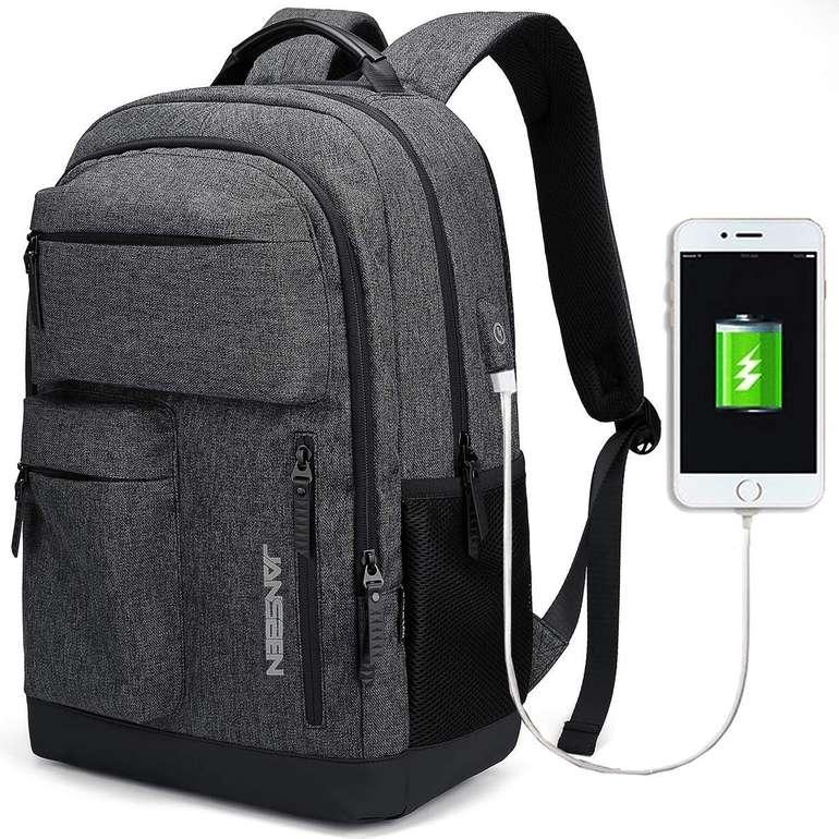 Jansben wasserdichter Laptop Rucksack mit USB-Anschluss für 19,79€ (Prime)