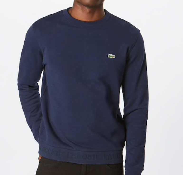 Lacoste Herren Sweatshirt in marineblau (100% Baumwolle) für 59,42€ (statt 72€)