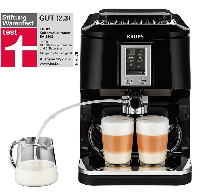 Krups EA8808 (One-Touch-Vollautomat) für 287,91€ inkl. Versand