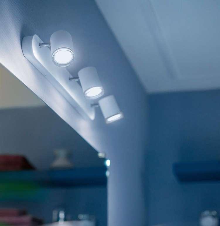 Philips Hue Adore - 3er Badezimmer-Spot mit Dimmschalter für 71,24€ inkl. Versand (statt 130€)