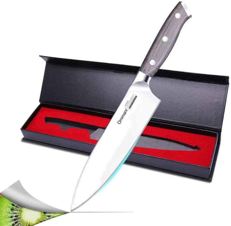 Ommani Kochmesser (20cm) aus Carbon Edelstahl für 14,39€ inkl. Prime Versand (statt 20€)
