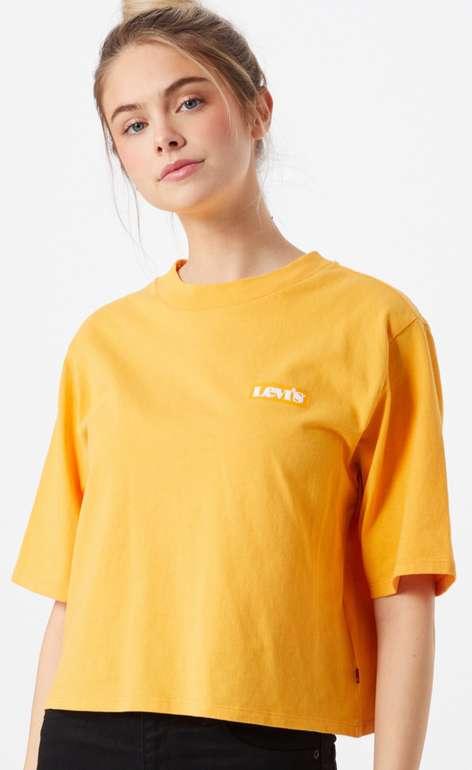 Levi's Damen T-Shirt in goldgelb / weiß für 16,90€ inkl. Versand (statt 22€)