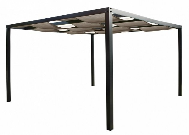 Leco Alu Pergola Loft 360x360cm Terrassen-Überdachung für 399€