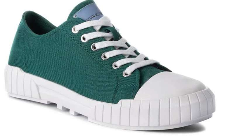 Calvin Klein Beato Herren Sneaker S1748BGE in grün-weiß für 34,34€ inkl. Versand (statt 60€)