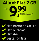 Crash Tarif: Telekom Allnet Flat mit 2GB LTE für 9,99€ monatlich (SIM-Only)
