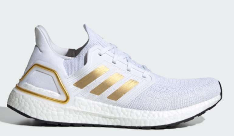 adidas Ultra Boost 20 Damen Schuhe in Weiß/Gold für 89,99€inkl. Versand (statt 150€)