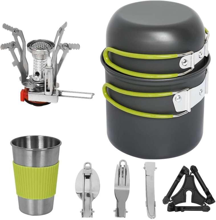Bmot Camping Geschirr Set (9-teilig) für 18,89€ inkl. Versand (statt 23€)