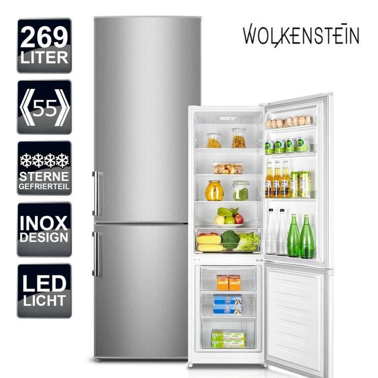 Wolkenstein Kühl-Gefrierkombination KGK280D Inox Design (269L) für 333,33€ inkl. Versand (statt 409€)