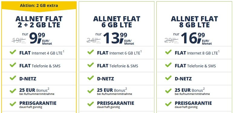 Freenetmobile Allnet-Tarife