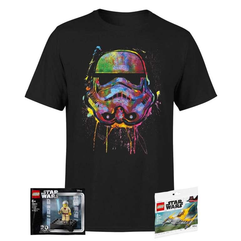 Star Wars Unisex T-Shirt + 2 LEGO Star Wars Mini Figuren für 19,48€ inkl. Versand (statt 30€)