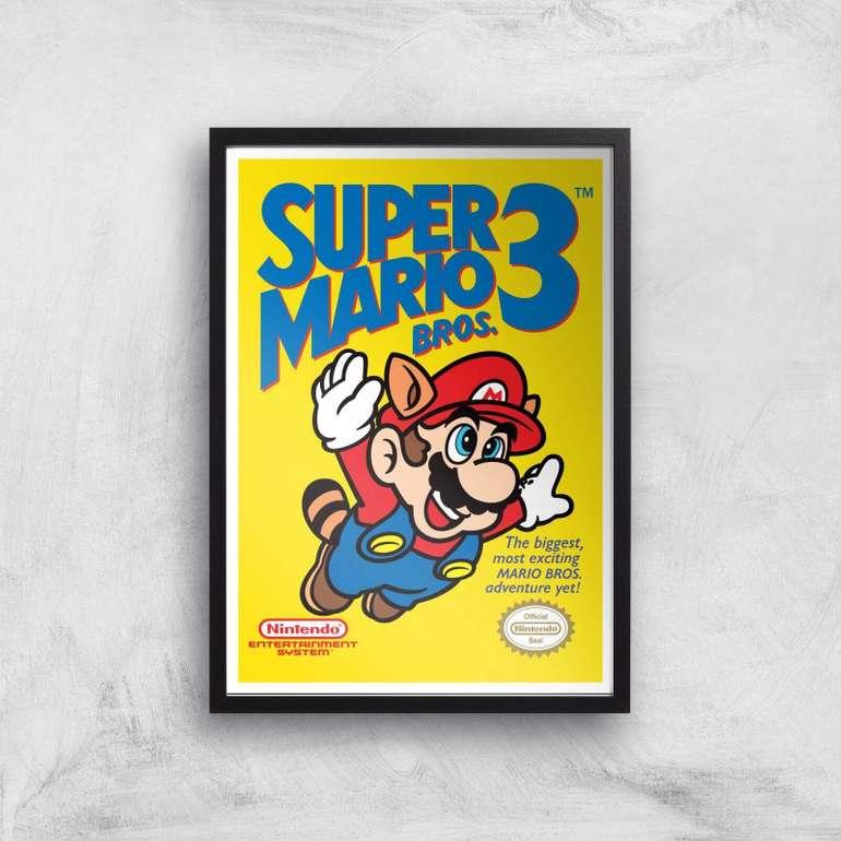SOWIA: 25% Rabatt auf über 3.430 Kunstdrucke + VSKfreie Lieferung, z.B. Nintendo Super Mario Bros 3 für 8,61€