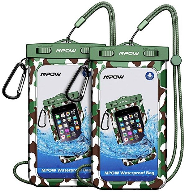 2er-Pack wasserdichte Mpow Tarnhüllen für eure Smartphones nur 4,69€ (Prime)