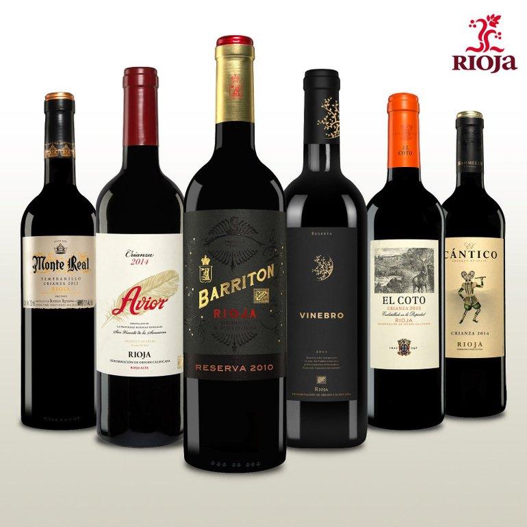 Rioja Wein Probierpaket – 6 Flaschen spanische Weine für 39,85€ inkl. VSK