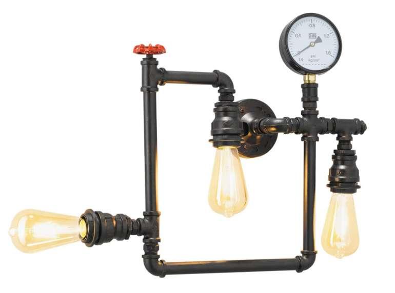 """casaNOVA Retrofit Wandlampe """"Pipe"""" eisenfarbig in braun für 44,90€ inkl. Versand (statt 85€)"""