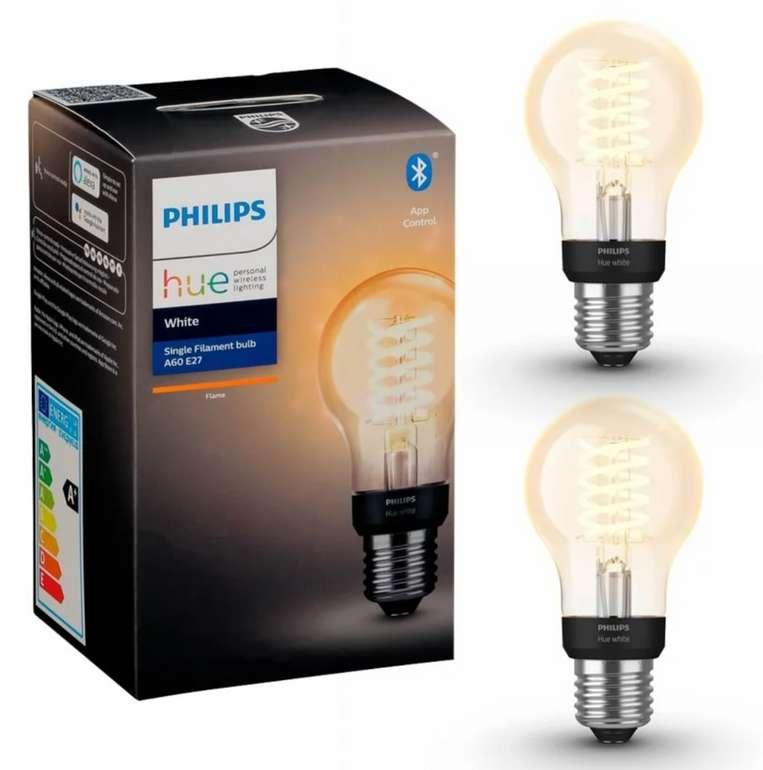 2x Philips Hue A60 E27 Standard-Glühfaden mit Bluetooth für 25,90€inkl. Versand (statt 37€)